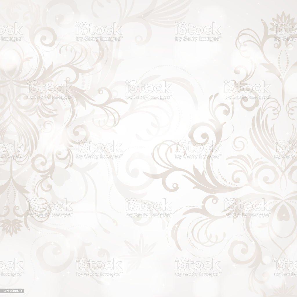 Vintage swirl background vector art illustration
