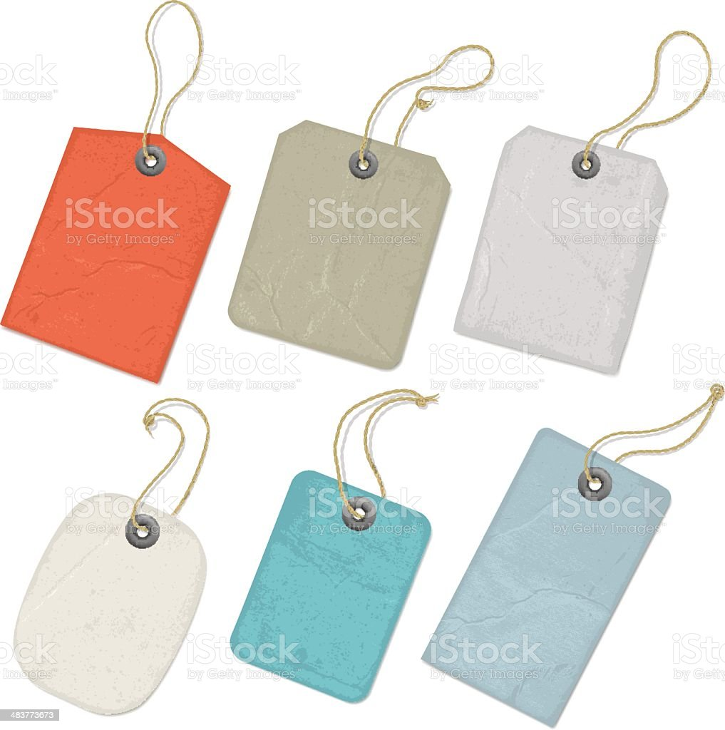 Vintage Tags vector art illustration