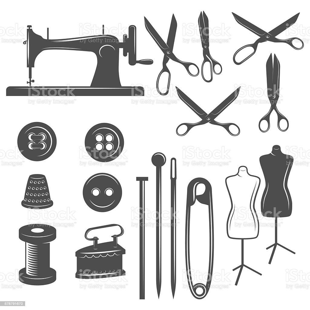 vintage tailor label, badge and design element vector art illustration