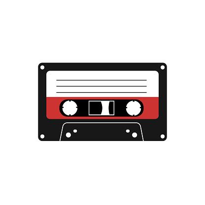 Vintage tape cassette. Vector illustration eps 10