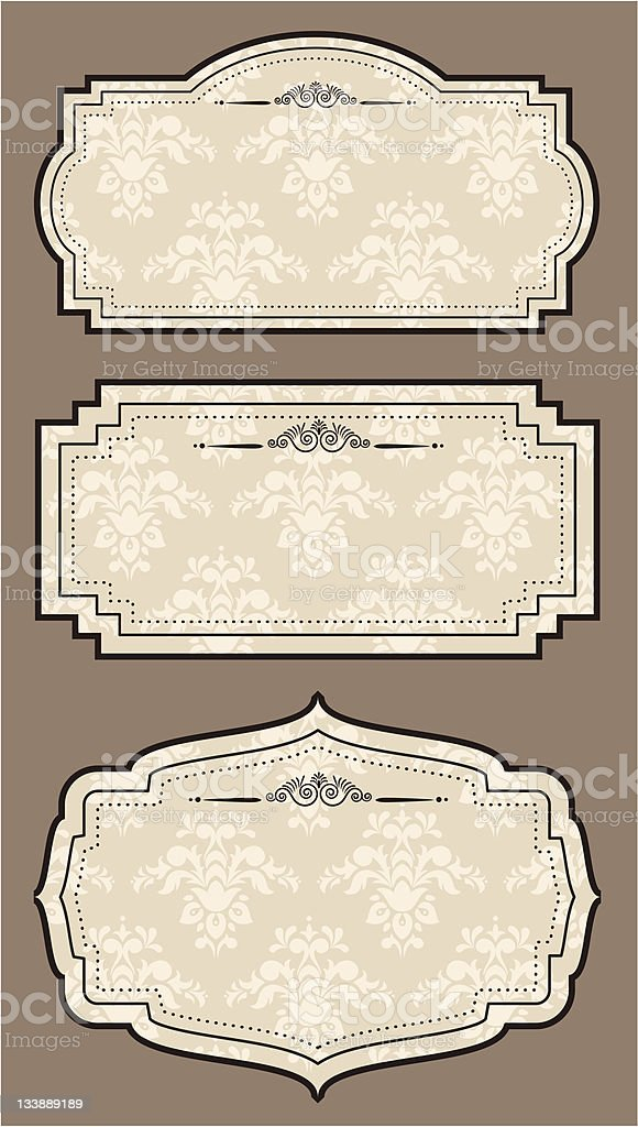 Vintage tapestry background. Vector set royalty-free stock vector art