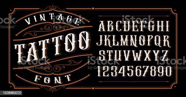 Vintage tattoo font vector id1028983222?b=1&k=6&m=1028983222&s=612x612&h=uquxt6 7xywhal3cozm3mijj3y81p8ofvotfxvo14oq=