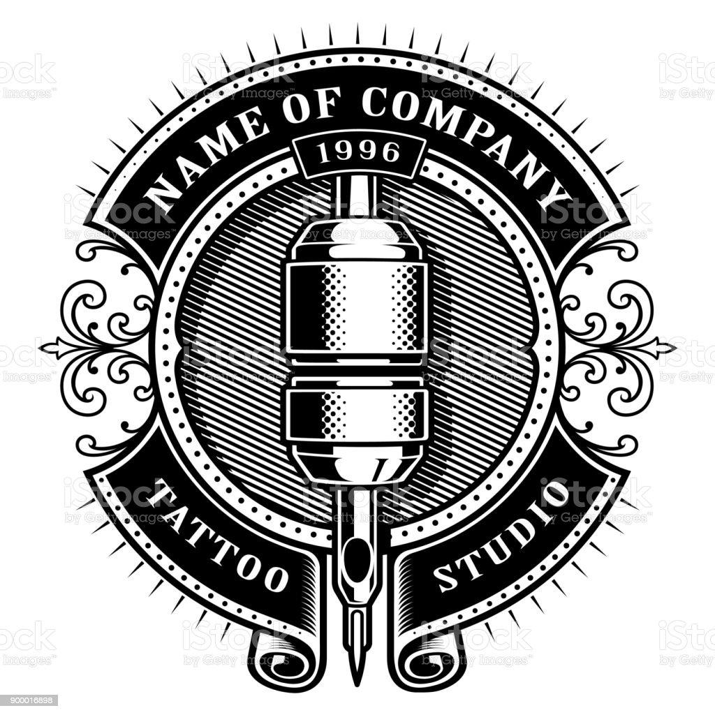 Vintage Tattoo Studio Emblem1 Stock Illustration - Download Image ...