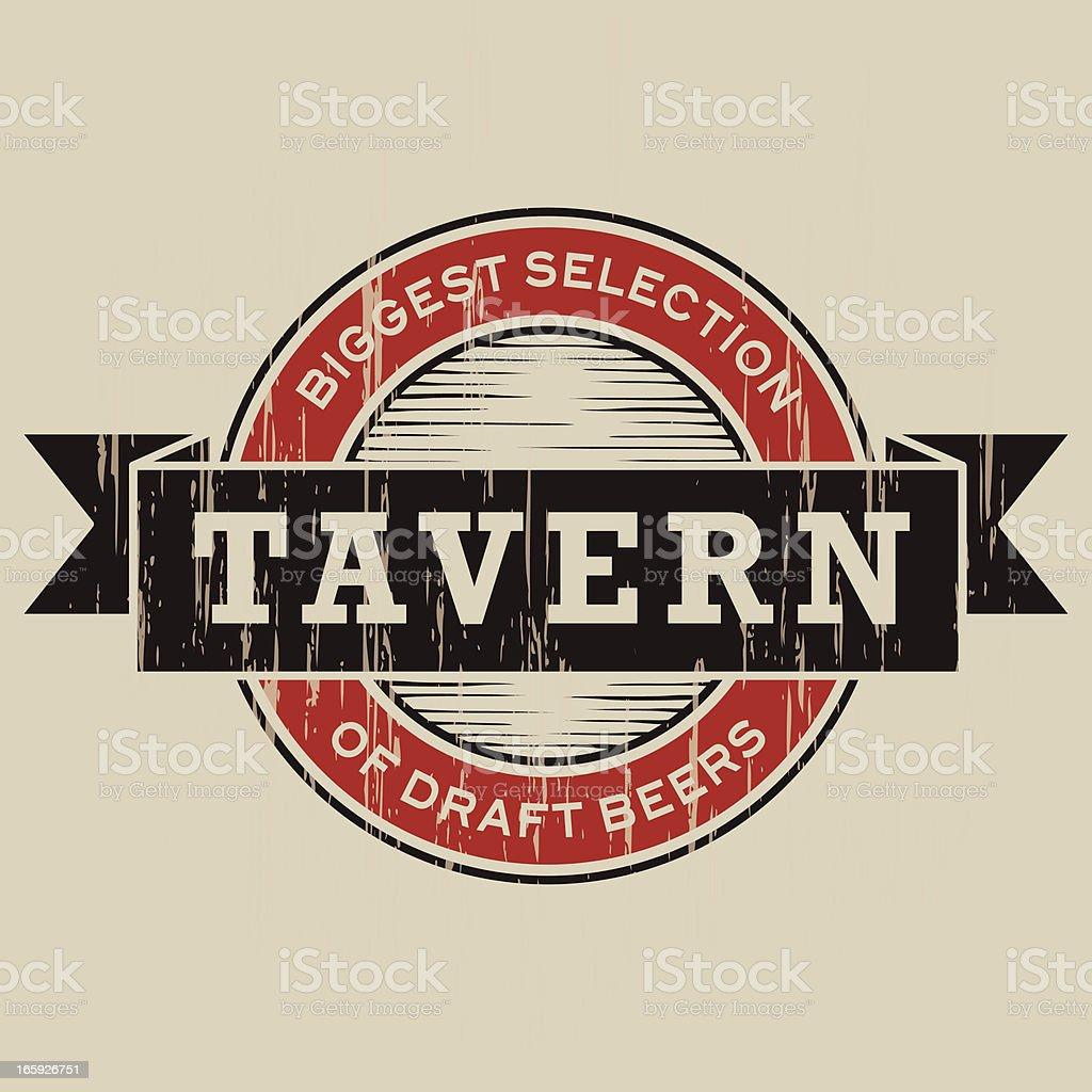 Vintage Tavern Label royalty-free stock vector art