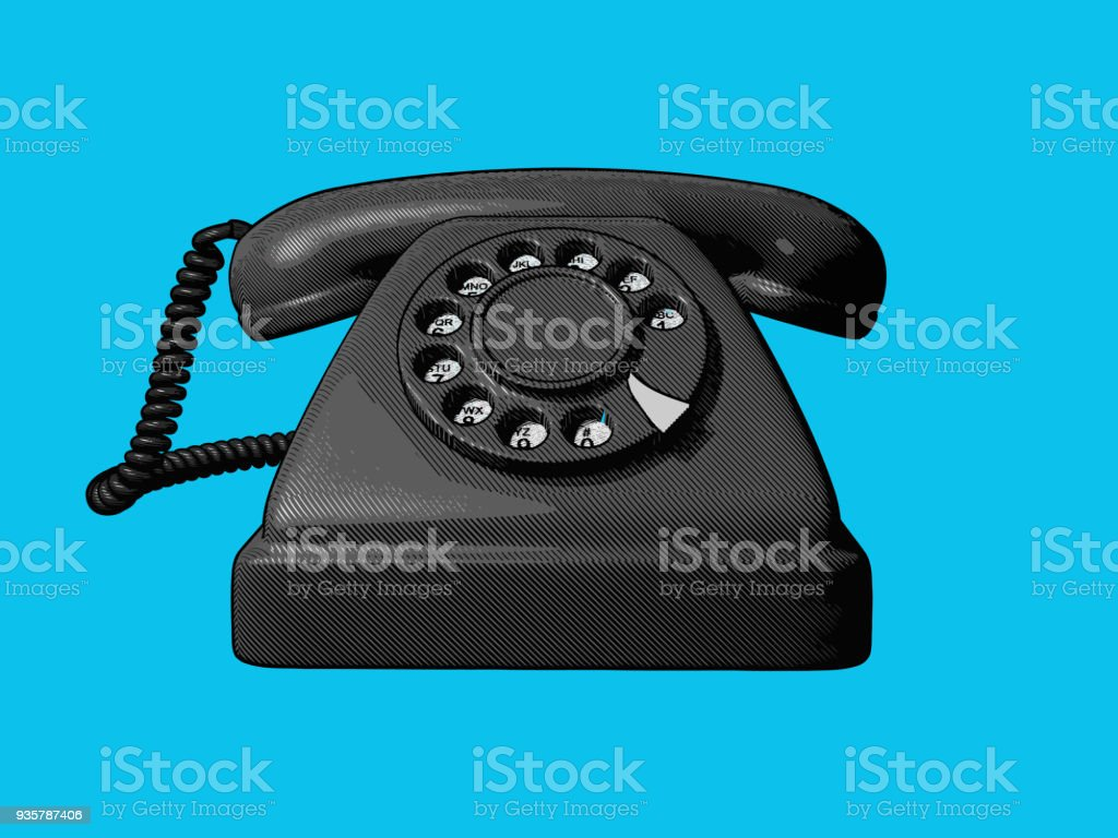 Vintage Telephone Drawing Illustration Royalty Free Stock Vector Art Amp