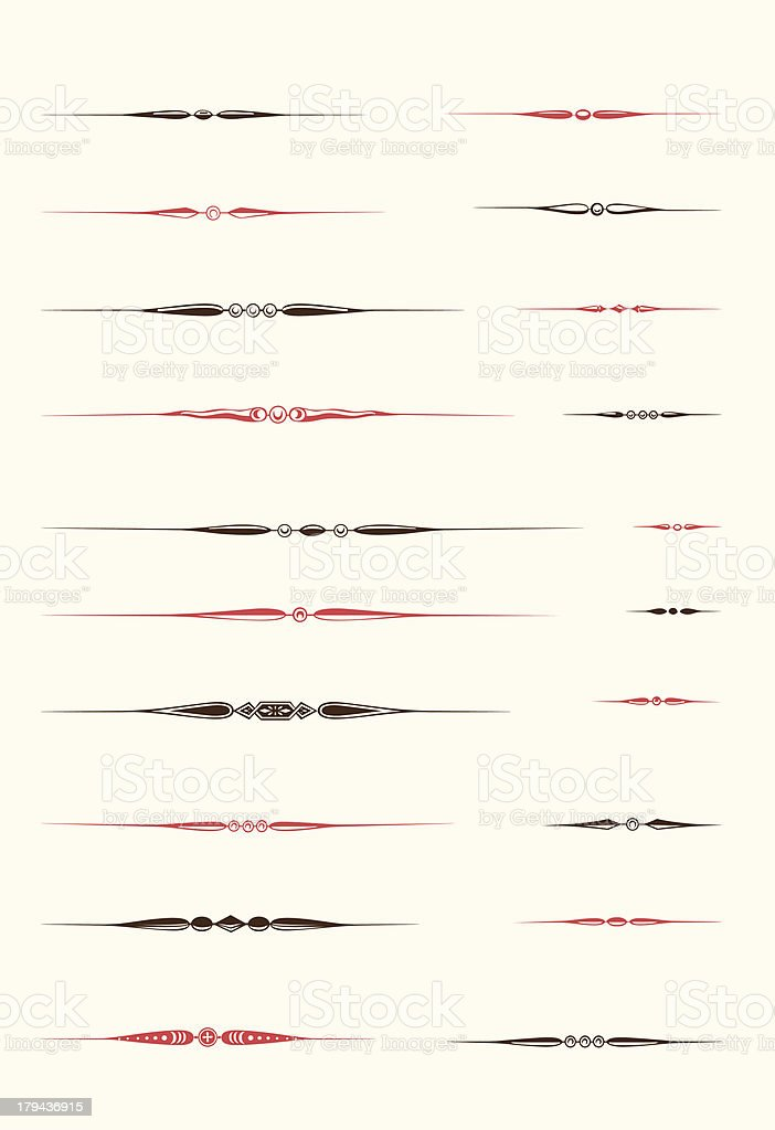 Vintage Text Dividers royalty-free stock vector art
