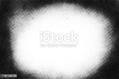 Vintage black and white noise texture. Abstract splattered background for vignette. Vector halftone texture overlay