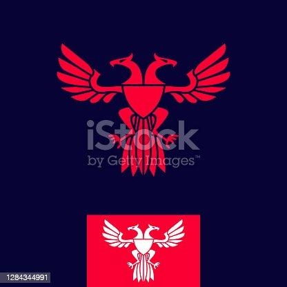 istock vintage thin line minimalist royal heraldic eagle coat of arms vector icon 1284344991