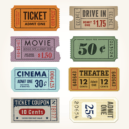 Vintage Tickets and Coupons Collection