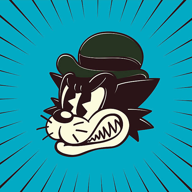 Cartoon Characters 50s : Royalty free retro comic book art clip vector images
