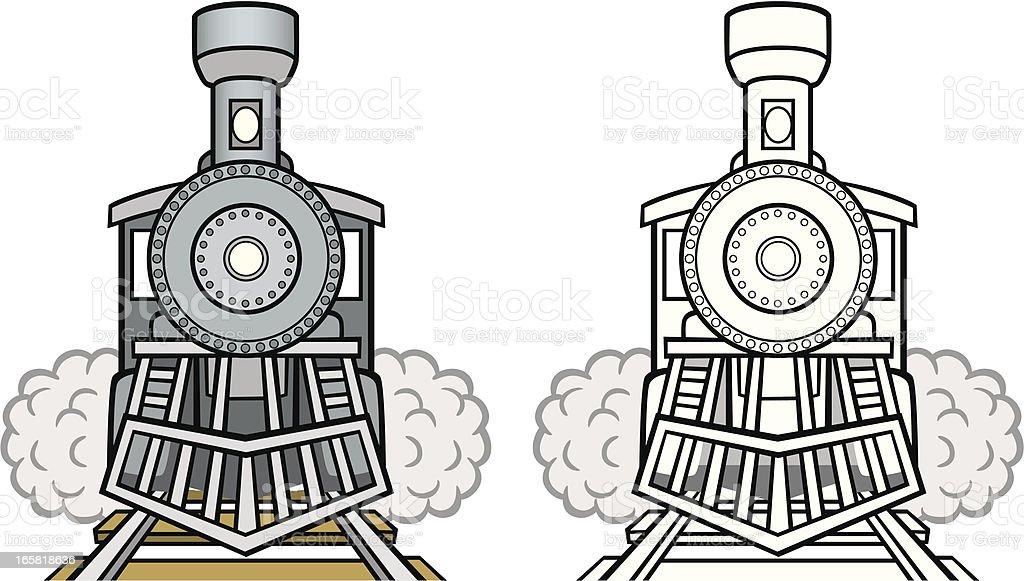 Vintage Train vector art illustration