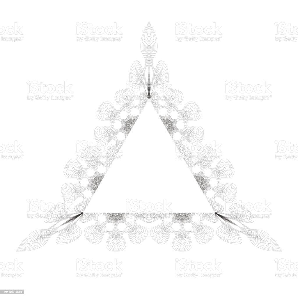 Ilustración de Marco Triangulo Vintage y más banco de imágenes de ...