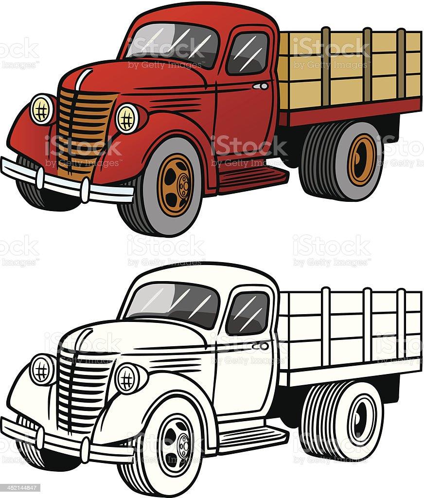 Vintage Truck vector art illustration