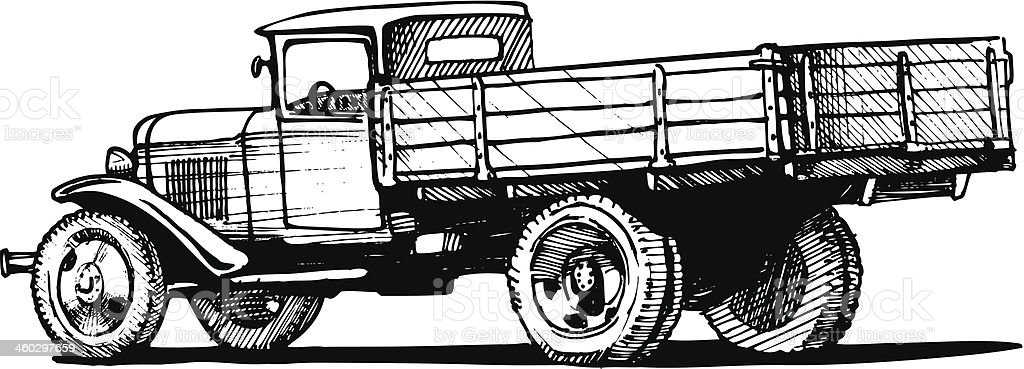 vintage truck royalty-free stock vector art