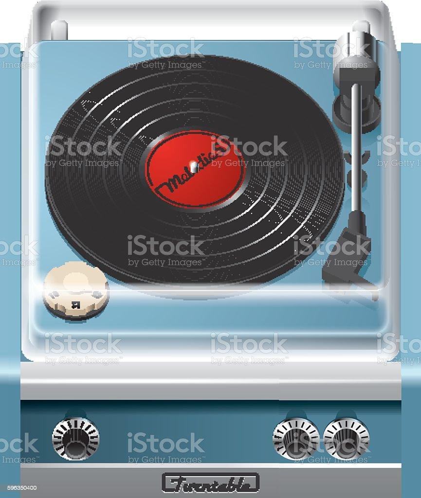 Vintage turntable icon Lizenzfreies vintage turntable icon stock vektor art und mehr bilder von 1960-1969