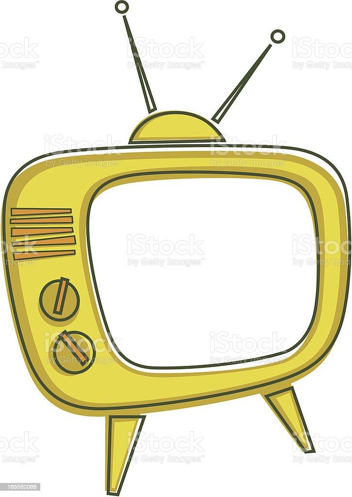Vintage TV Set vector art illustration