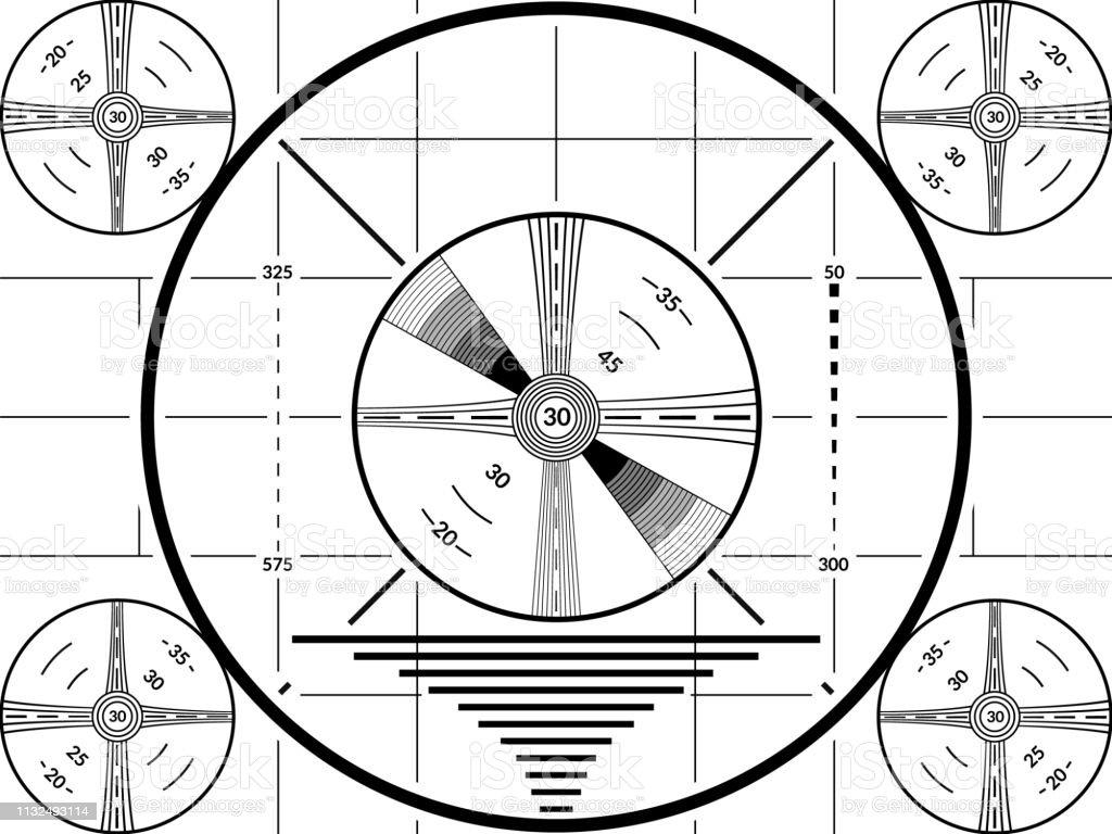 écran De Test Tv Vintage Modèle De Calibrage De Télévision
