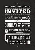 Vintage Typescript Invitation