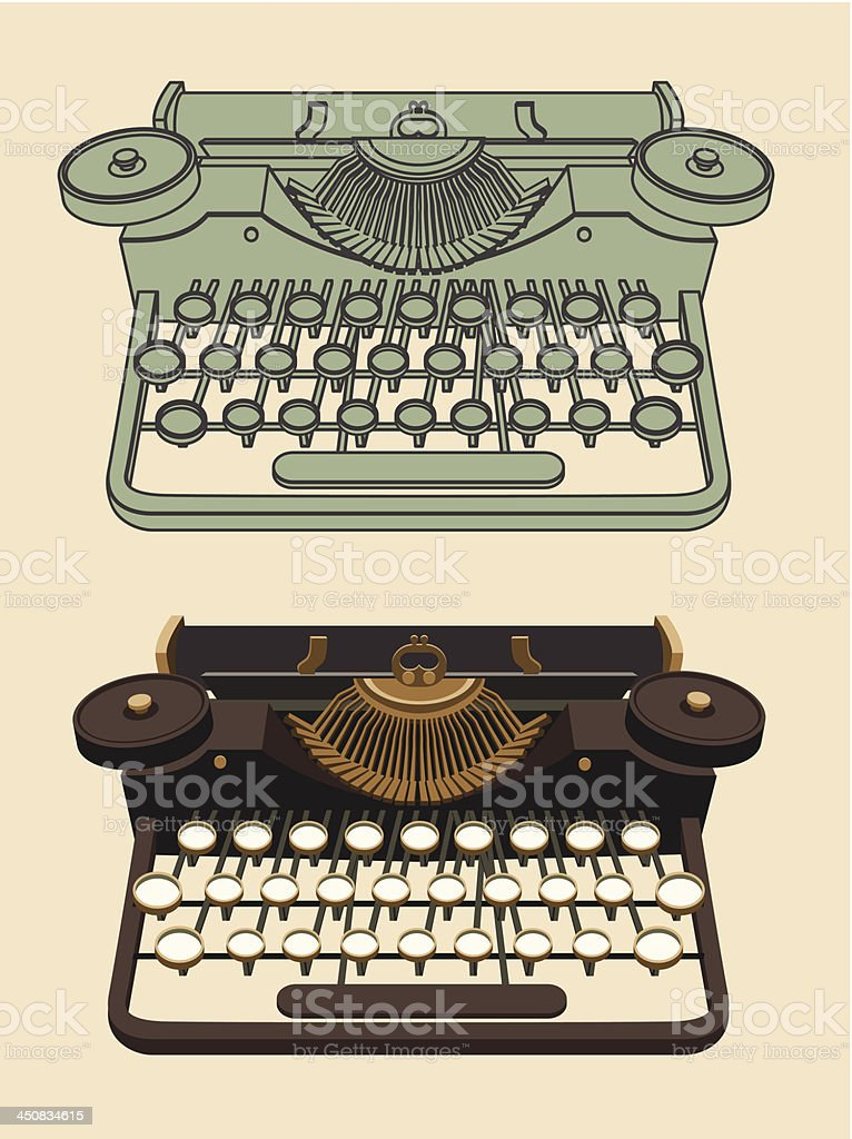 Vintage Typing machine royalty-free stock vector art