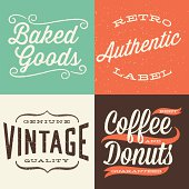 Set of retro label designs.  Colors are global and each design is grouped for easy editing.  Download includes zipped AI CS4 file with editable text.  Texture can be removed.