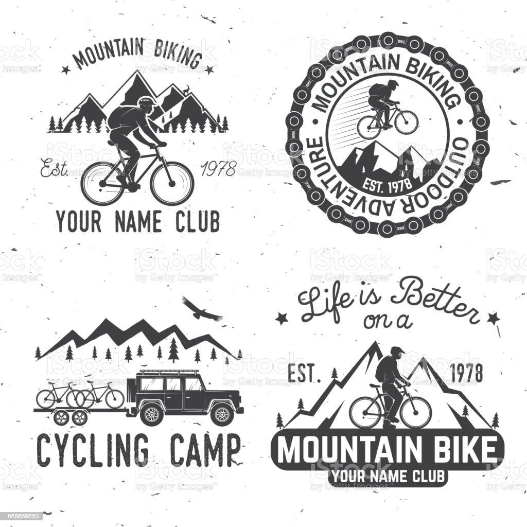 Diseño De Tipografía Vintage Con El Coche Y Remolque Bicicletas De ...