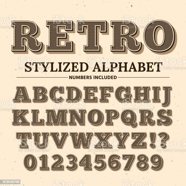 Vintage typography vector font decorative retro alphabet old western vector id928036266?b=1&k=6&m=928036266&s=612x612&h=xpgx5sjqi 1gwqsen2juvzkdihpook0x0pievmareii=