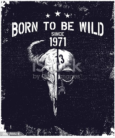 vintage urban typography with skull, t-shirt graphics, vector illustration