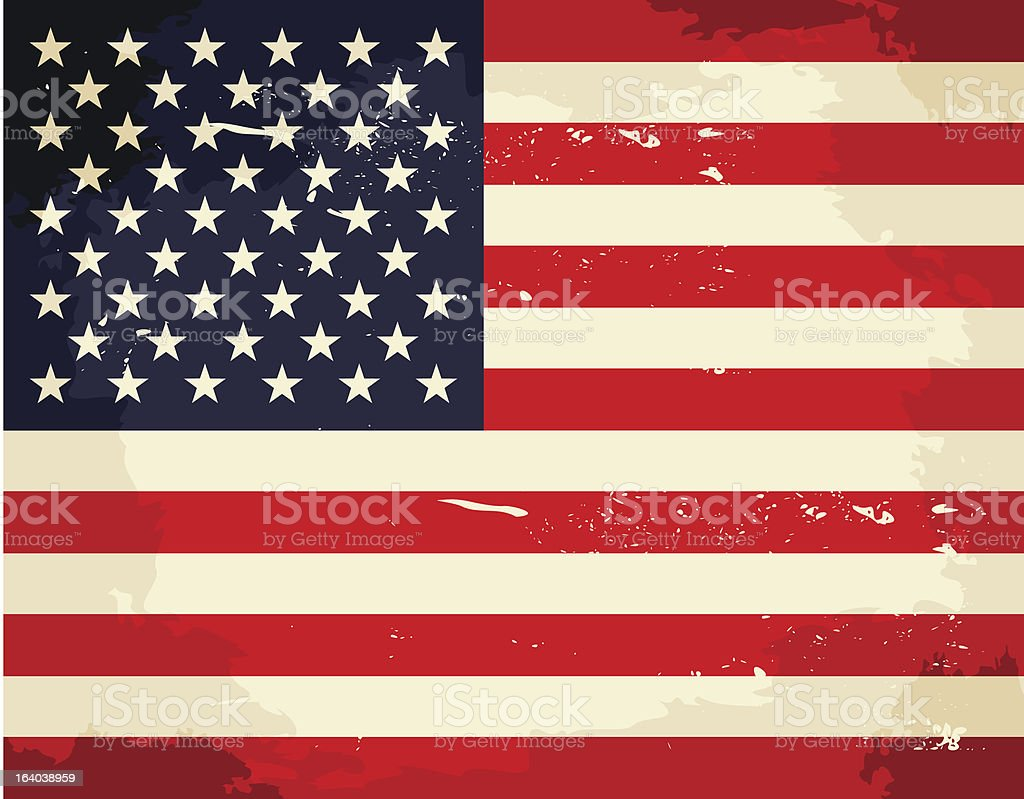 Vintage US Flag royalty-free vintage us flag stock vector art & more images of american flag