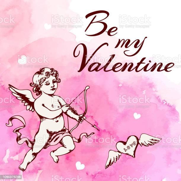 Vintage valentine card with cupid vector id1090375256?b=1&k=6&m=1090375256&s=612x612&h=bgbhoejsnu6qdjprdm212lq9 8jkjxrpusemjmbtfqs=