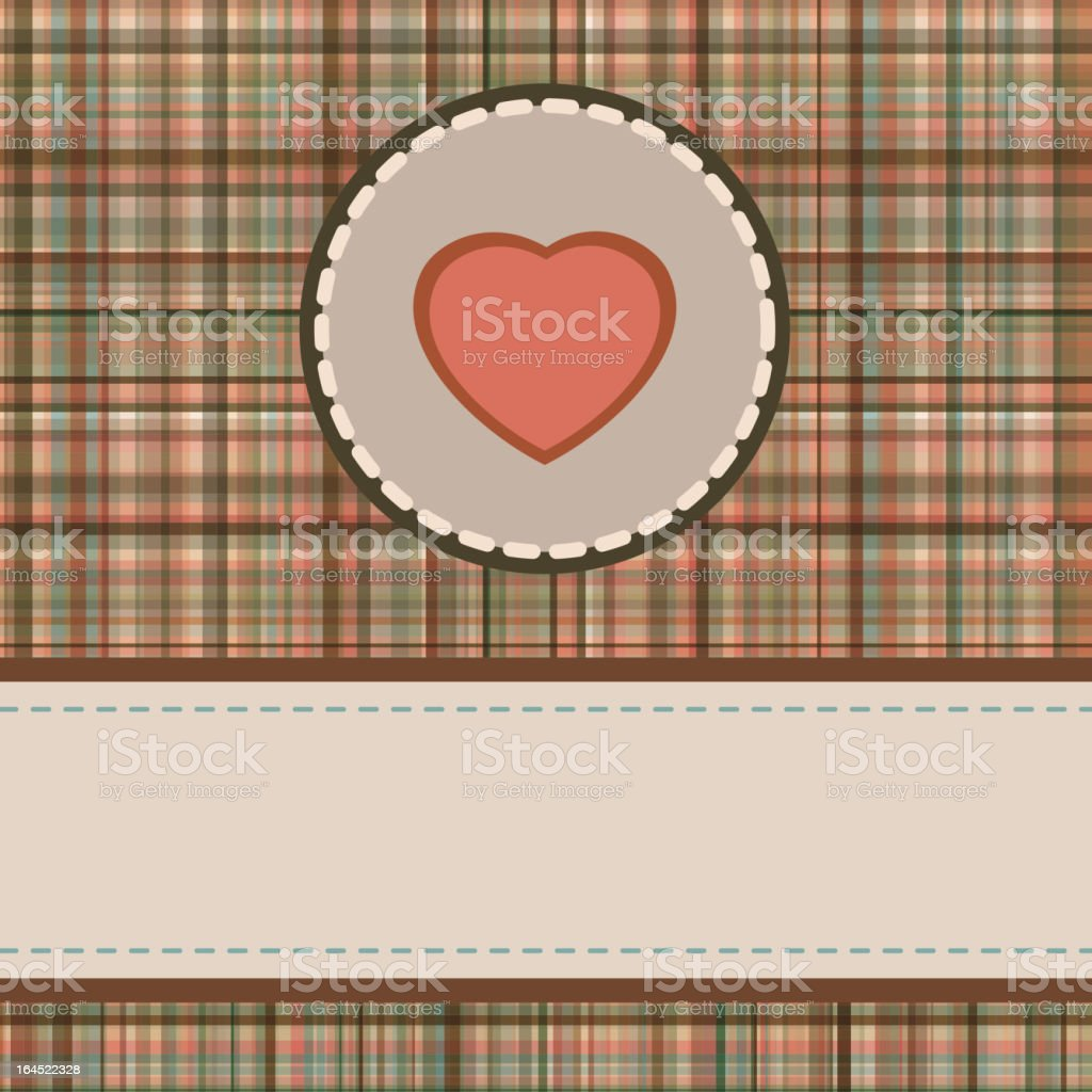 Vintage valentine's day card. EPS 8 royalty-free stock vector art