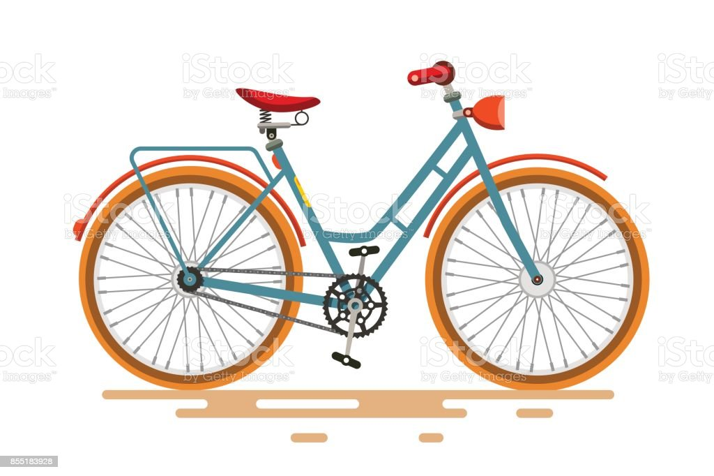 Vintage Vector Bike vector art illustration