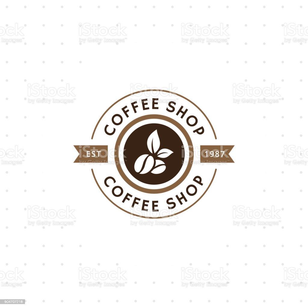 Vintage vector coffee emblem and label vector art illustration