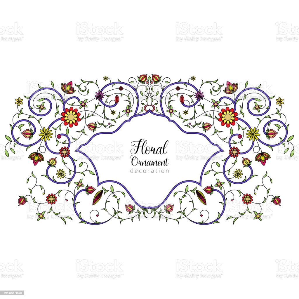 Vintage Vector Floral Ornament For Invitations To A Wedding