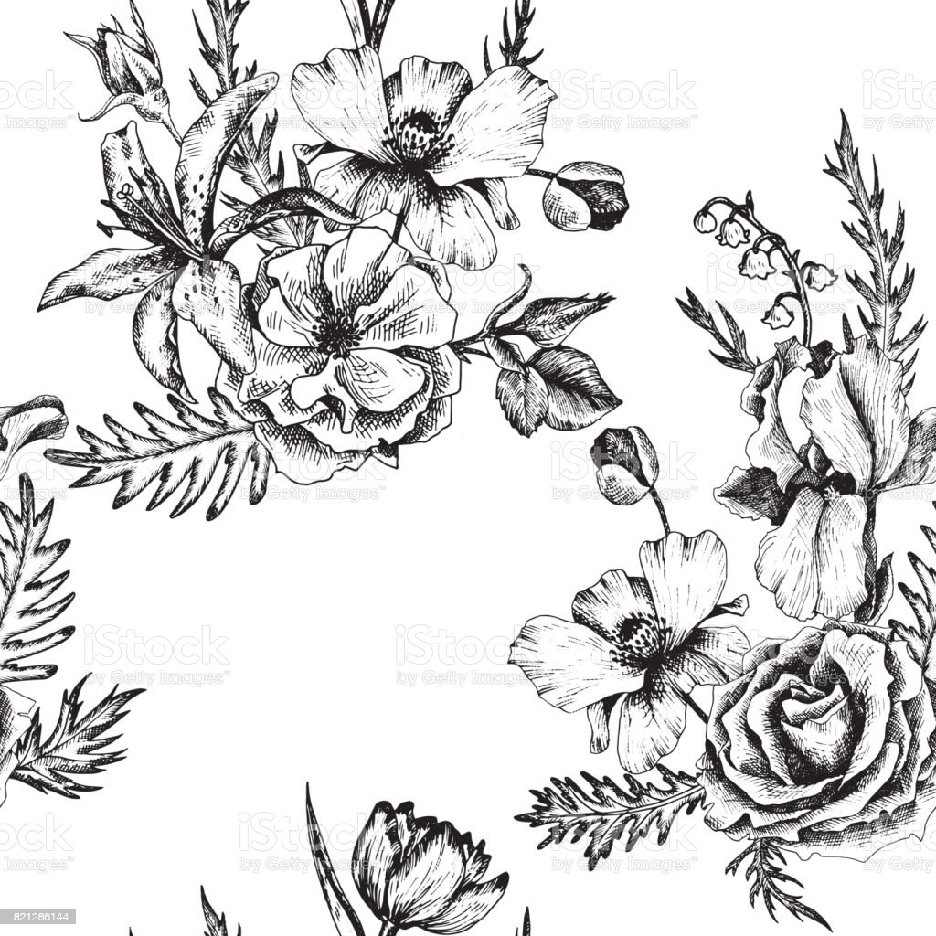 vector vintage motif floral - Illustration vectorielle