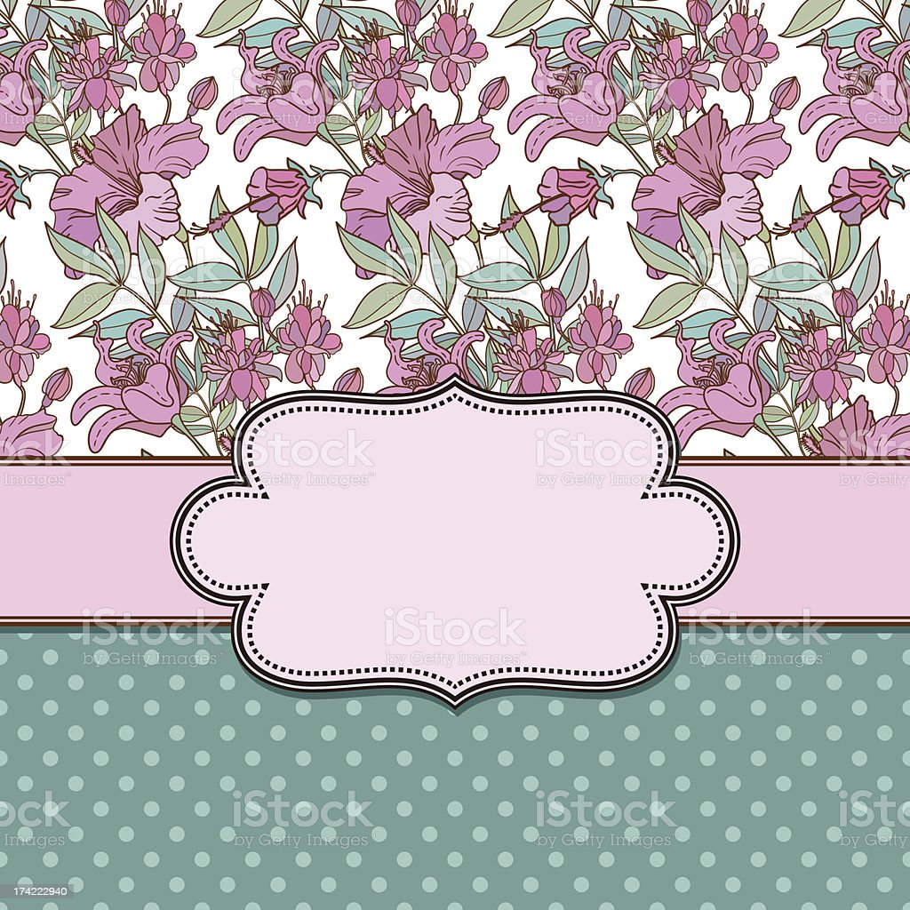 Vintage vector flower frame royalty-free vintage vector flower frame stock vector art & more images of abstract