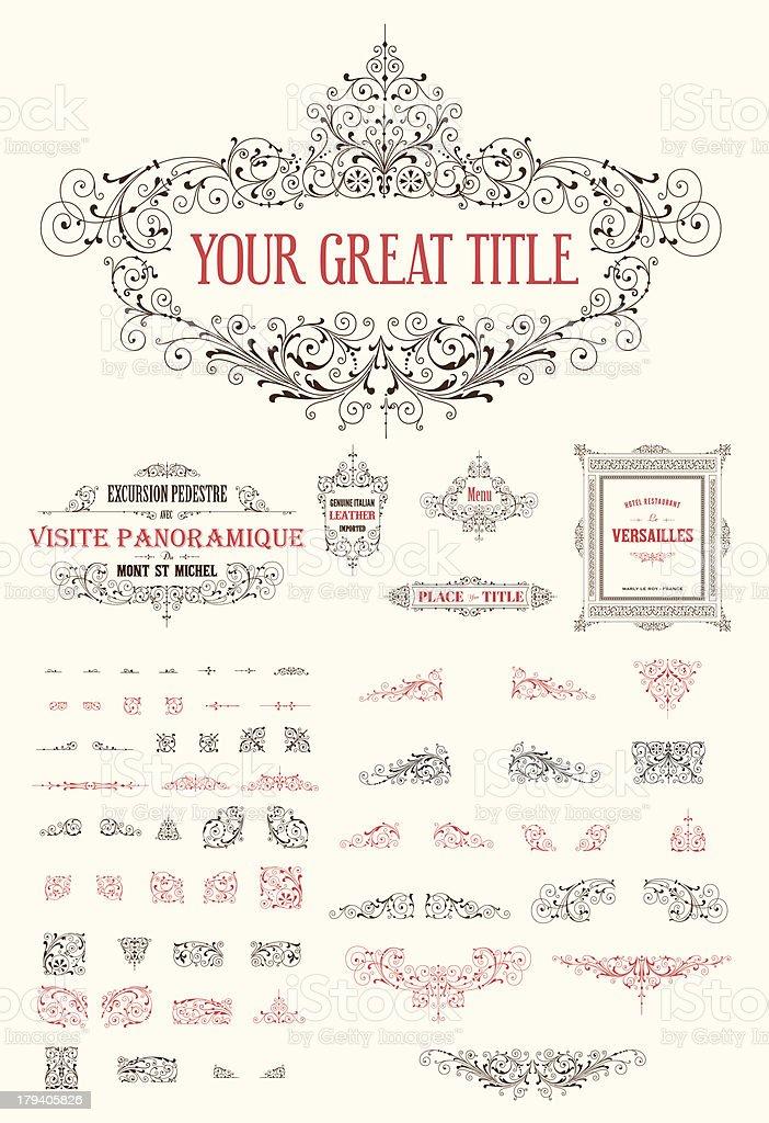 Vintage vector ornate border kit royalty-free stock vector art