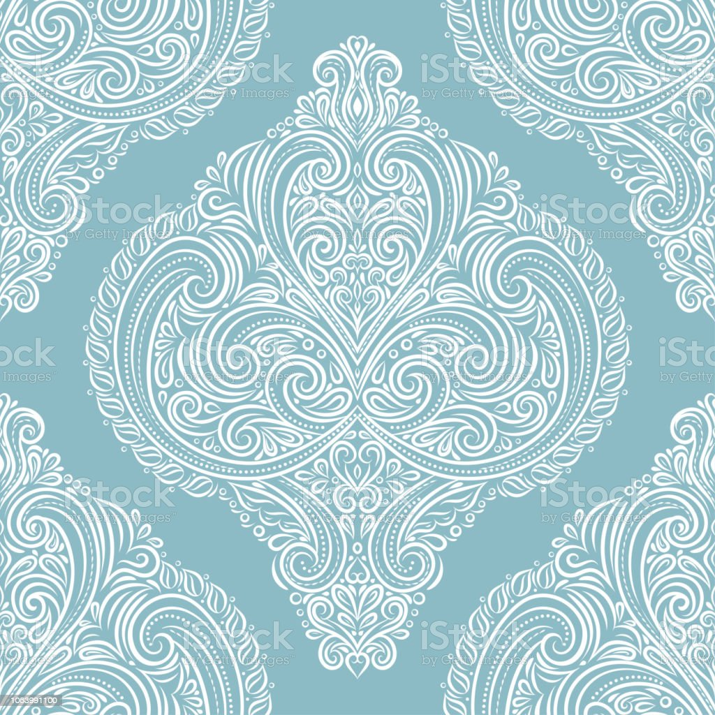 Vintage Vector Seamless Pattern Wallpaper Elegant Classic Texture Luxury Ornament Royal Victorian Baroque Elements Stock Illustration Download Image
