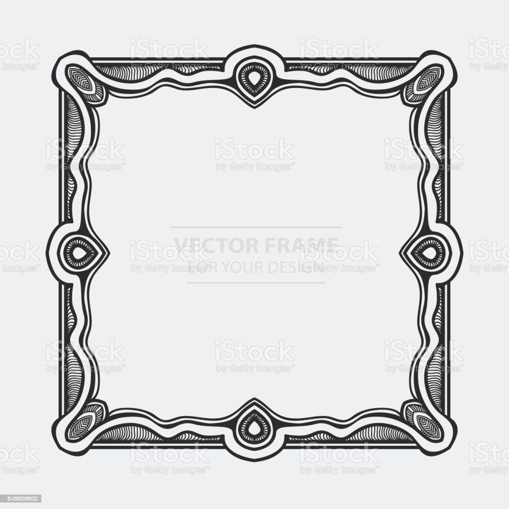 e372e7236ee1e Ilustración de Vector Vintage Set Retro Marco Tarjetas Etiquetas De ...