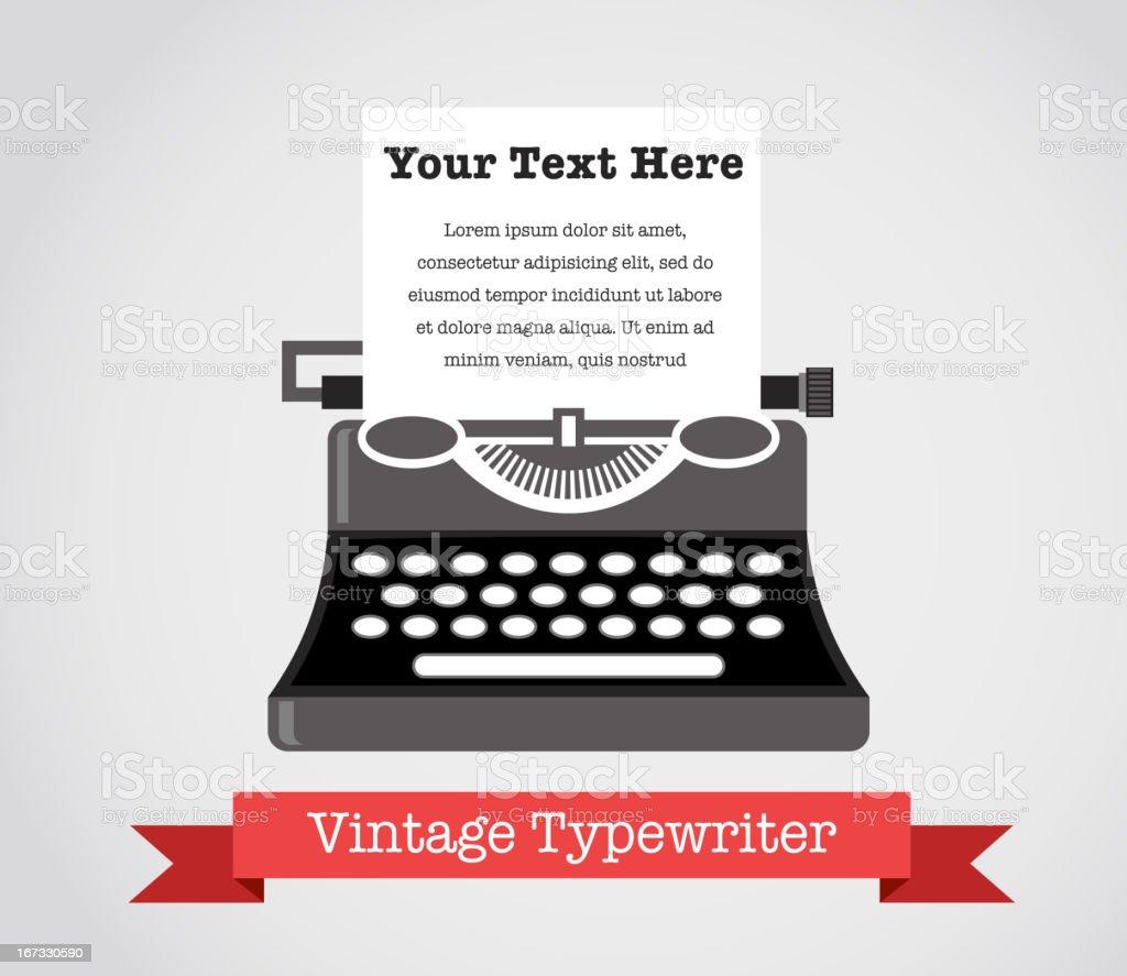 Vintage Vector Typewriter royalty-free vintage vector typewriter stock vector art & more images of author