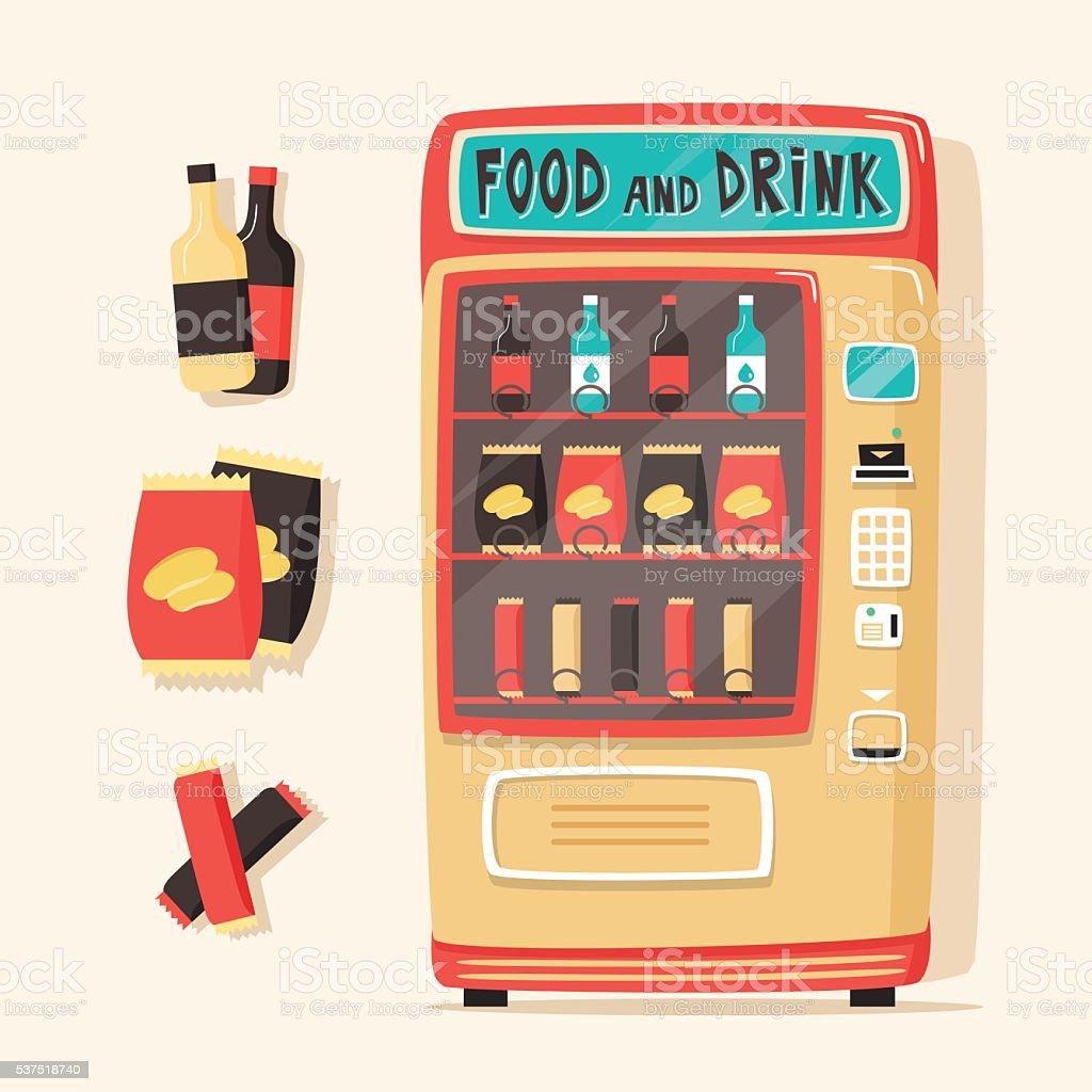royalty free coke vending machine clip art vector images rh istockphoto com Vending Machine Clip Art Black and White vending machine snacks clipart