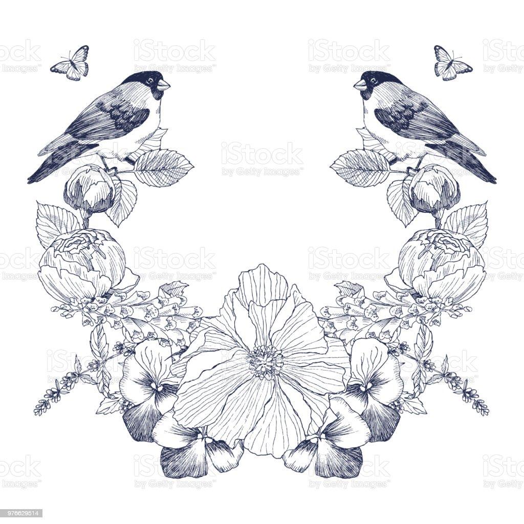 Vintage Victorian Rahmen Grenze Monogramm Floral Ornament Gravierte ...