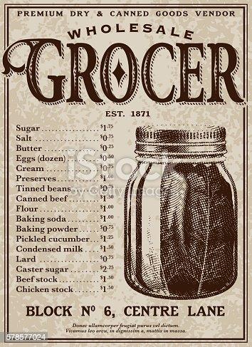 istock Vintage Victorian Style Advertisement 578577024