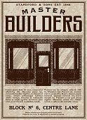 A vector illustration of an old fashioned advertisement in a Victorian style of typography. Decorative typefaces are mixed together to create the design. Download includes AI10 EPS and a high resolution JPEG file.