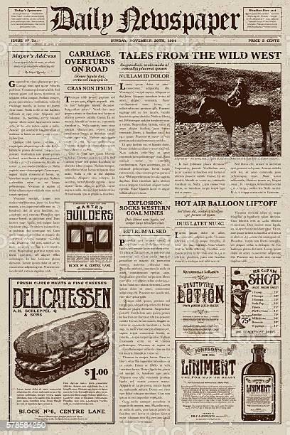 Vintage victorian style newspaper design template vector id578584250?b=1&k=6&m=578584250&s=612x612&h=i z1cu61nagjjwjhh7 rto55szbtnuug2p4ir gx03c=