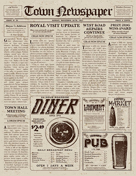 Royalty Free Old Newspaper Clip Art Vector Images Illustrations