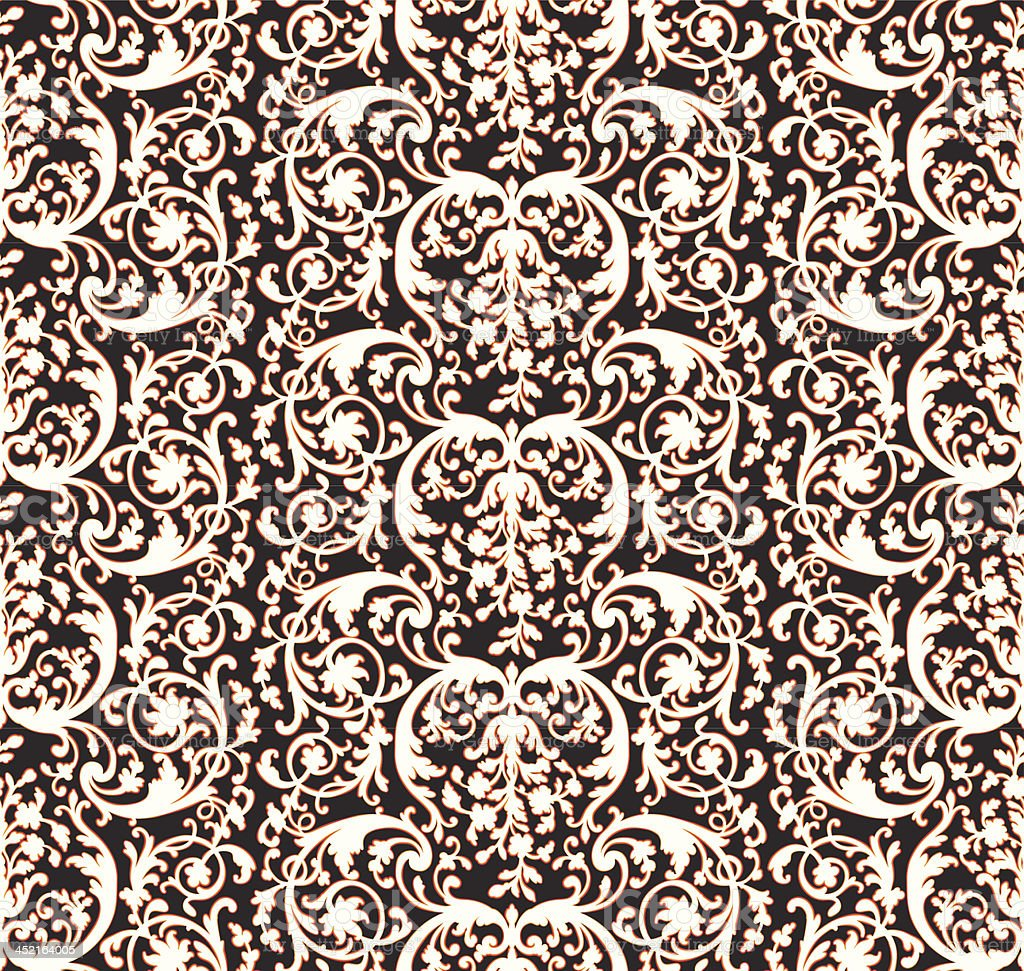 Vintage Victorian Wallpaper Pattern royalty-free stock vector art