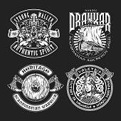Vintage viking labels