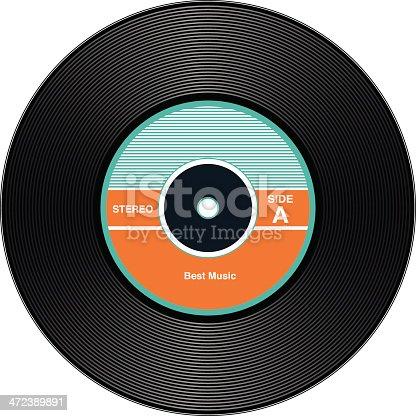 istock Vintage Vinyl Records 472389891