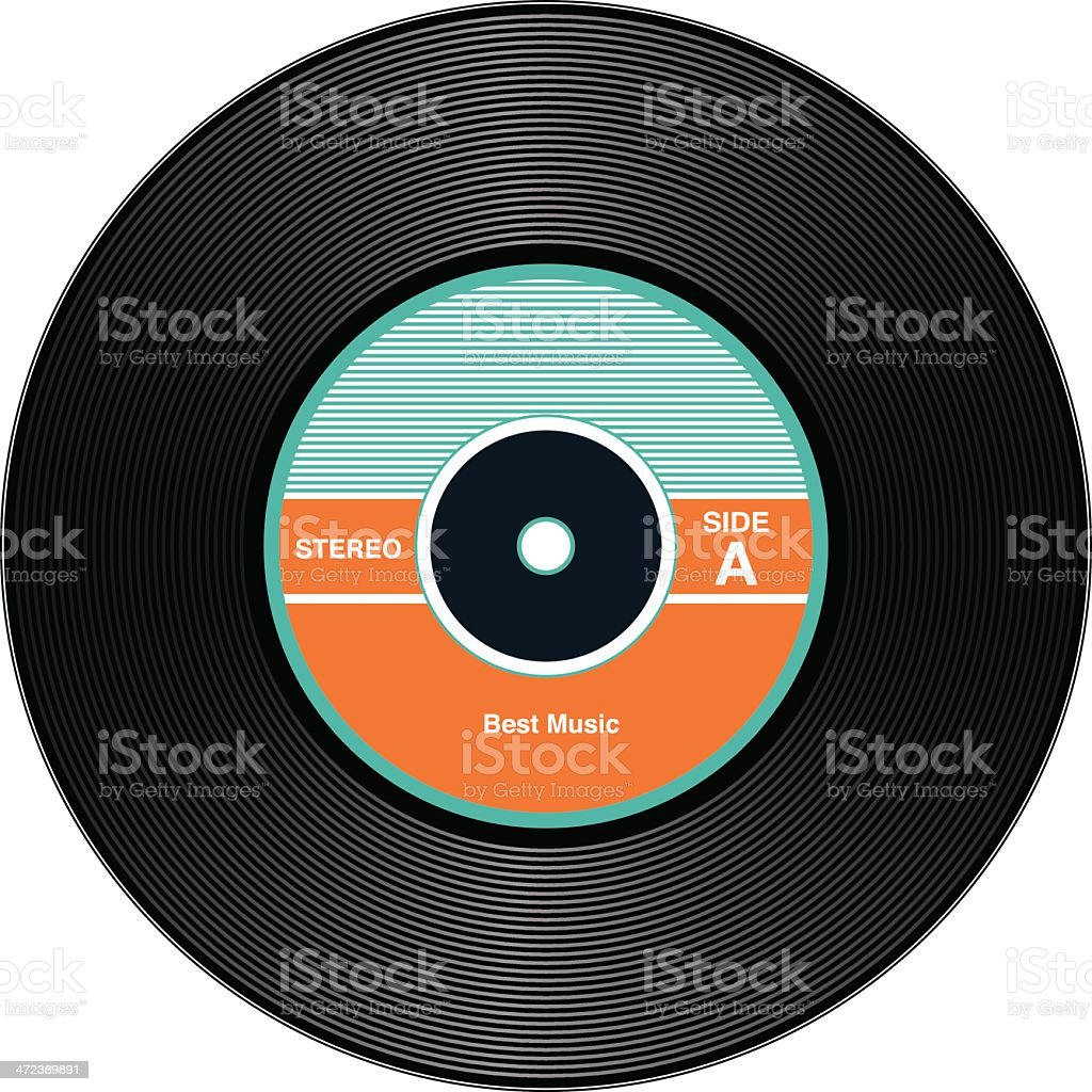 Vintage Vinyl Records vector art illustration
