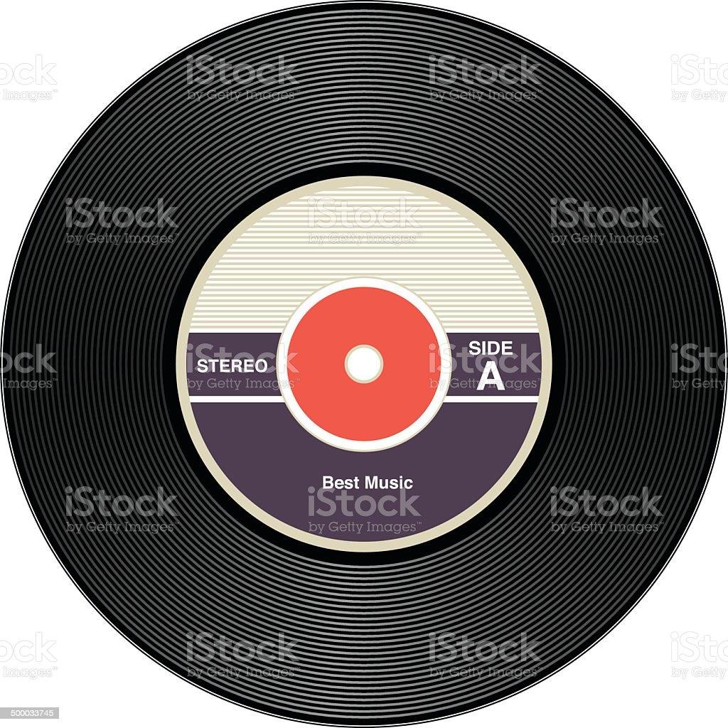 Vintage Vinyl Records vector art illustration